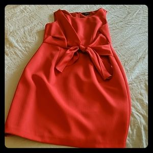 Bright red limited cocktail or work dress